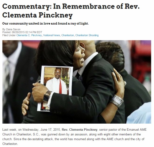 In Remembrance of Rev Pinckney